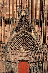 Porche d'entrée de la cathédrale de Strasbourg (jjcordier) Tags: porche cathédrale gothique strasbourg alsace grandest portail