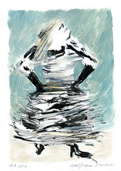 Wolfram Zimmer: Cabaret (ein_quadratmeter) Tags: wolframzimmer bilder kunst malerei gemälde wolfram zimmer konzeptkunst objektkunst mein freiburg burg birkenhof kirchzarten ausstellung ausstellungen peinture exhibition exhibitions zeichnung tusche besen ink broom besom