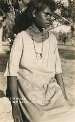 Australian aboriginal mission girl from the Gulf area - circa 1920 (Aussie~mobs) Tags: australia aborigine native indigenous tribal vintage 1920s aussiemobs