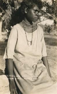 Australian aboriginal mission girl from the Gulf area - circa 1920