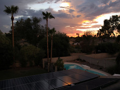 Rooftop Perspective (zoniedude1) Tags: arizona backyard sunset rooftopperspective neighborhood view weather phoenix skyshow neighborhoodview monsoon clouds summer rooftopphoto evening sundown monsoonseason rooftopview stormyskies sunsetsky valleyofthesun monsoonsunset sky colorful beauty azsky color light skyline desert backyardsunset phoenixsky southwest nature monsoon2017 canonpowershotg12 pspx9 zoniedude1