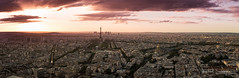 Parisian Sunset (Raph/D) Tags: paris tour montparnasse sunset night nuit coucher soleil france city urban ville capital town urbain eiffel tower monument landmark light lights lightroom sun set beautiful europe canon eos 7d mark ii canoneos7dmarkii l series lseries ef2470mmf28liiusm 2470mm catchy colors panorama hdr pano skyscraper view trails travel sky ciel clouds nuages blue hour magic dusk twinight stunning assemblage stack collage ultra hd high definiton resolution detail defense arc triomphe metro invalides louvre tuileries wide