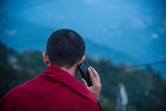 Sikkim, India (David Ducoin) Tags: asia communication himalaya india mobile mobilephone monk phone portrait red religion samasung samsung sikkim spirituality technologie technology gangtok in
