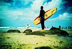 Lomo – he waits, that's what he does (lomomowlem) Tags: 35mm analogue beach bluesky crossprocess clouds colourstreambrighton coast cornwall expiredfilm ebx kodakelitechrome lomo lomography lca lofi sea surfing surfer watersports xprocess xpro