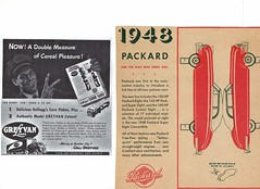 1948 Greyvan & Packard Convertible cutouts (aldenjewell) Tags: 1948 greyvan lines van kelloggs corn flakes packard super eight convertible cutout cereal boxes