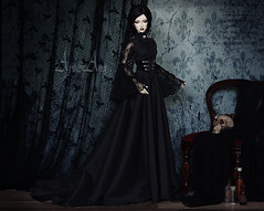 Gothic Lady (AyuAna) Tags: bjd ball jointed doll dollfie ayuana design handmade ooak clothing clothes dress set outfit victorian fantasy gothic style ordoll limos orlando hybrid