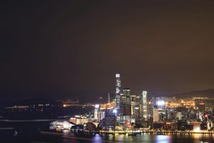 Kowloon at Night (superzookeeper) Tags: hk hongkong canoneos5dmarkiv ef2470mmf28liiusm 5dmk4 5dmkiv eos braemarhill night longexposure skyline city harbor victoriaharbor lighttrail lights icc sky instagramhill internationalcommercecenter westkowloon tst tsimshatsui