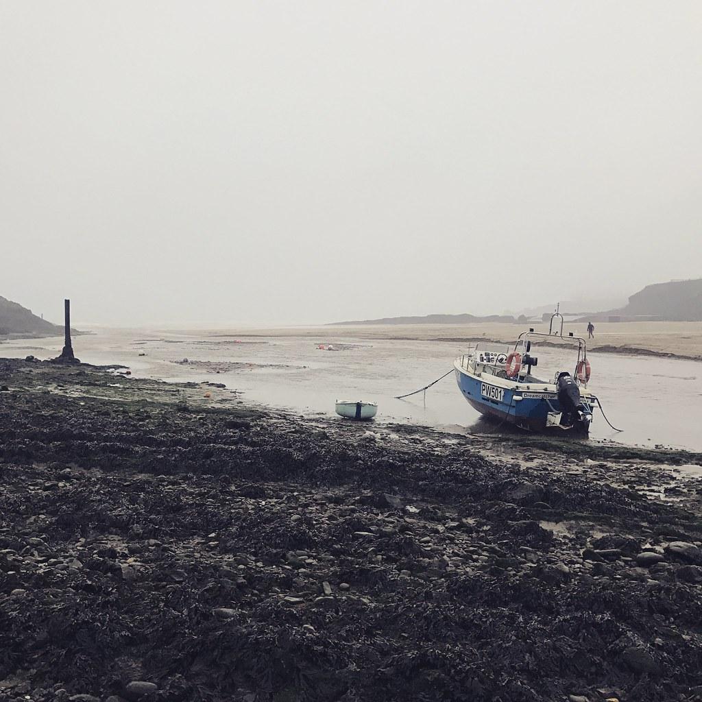 Fishing boat at Bude Beach (Cornwall, UK)