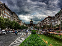 Wenceslas Square (Baz 3112) Tags: foranyonewhosinterested 500px hdr hdrcollection hdrgallery hdrphotography hdrphoto city cityscape perspective prague