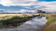 St Thomas a Becket Church (Nathan J Hammonds) Tags: stthomas church kent romney marsh water sky long exposure hdr 10stop nd filter nikon d750 reflection movement clouds landscape