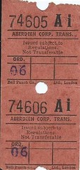 Aberdeen Corporation Transport Bus Ticket (Ray's Photo Collection) Tags: scan scanned document bus buses travel ticket aberdeen corporation transport scotland