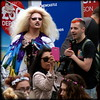 Queen in a crowd (* RICHARD M (6.5+ MILLION VIEWS)) Tags: street candid portraits portraiture streetportraits streetportraiture candidportraits candidportraiture dragqueen queen liverpoolpride gaypride lgbt gay alternativelifestyles wigs blondewig crowd crowds smiles fun happy happiness liverpool liverpudlians scousers merseyside mersysiders europeancapitalofculture capitalofculture dragartist heavymakeup scouser