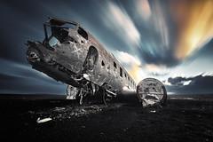 Plane Iceland (EtienneR68) Tags: landscape bleu blue paysage vik plane avion sunset pays iceland islande