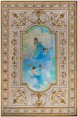 Ceiling of the Presidential Palace | Havana, Cuba (Six Seraphim Photographic Division) Tags: miguelsegura cuba havana habana nikon d750 travel caribbean island historical cuban libra libre ceiling fresco art artwork vivid