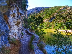 The footpath..Galani Nestos river..Xanthi Greece (panoskaralis) Tags: path footpath road rocks rocky nestosriver river galaninestos water waterfront mountain mountainside mountains xanthi greece greek hellas hellenic outdoor landscape walking nature tree trees