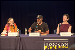Joyce Carol Oates, Nelson George and Sarah Weinman talk about Crime Noir. (TheeErin) Tags: brooklyn joyce carol oates books talk symposium festival bkbf joycecaroloates writer nelsongeorge funk nelson george crimefiction crime fiction sarah weinman sarahweinman laugh interview bkbf2017 newyork unitedstates writers findingfunk people table laughing