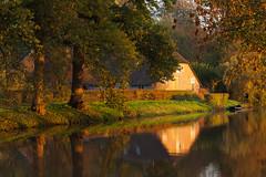 20131105-Canon EOS 5D Mark II-9535 (Bartek Rozanski) Tags: bunnik utrecht netherlands rhine krommerijn river reflection still water farm house lane autumn dutch