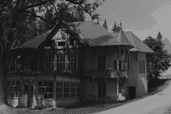 Haunted. (andreicocis) Tags: old abandoned haunted house romania ghosts ghostly figures paranormal black white vintage postcard