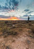 Alone (tlwecker) Tags: self portrait sand landscape desert colorado sky sage sunset clouds