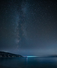 Milky Way over the Needles (Elm Studio) Tags: copyright copyrighted jeffmorgan elmstudio jeffelmstudiocom wwwelmstudiocom 4407542933700 isleofwight 2017 appicoftheweek morgan outdoors placeofinterest seascape seaside dreamy alumbay england englishchannel gb europe uk totland solent sony mirrorless chalk cliff night dark sea seastacks lighthouse waves needles needlesheadland milkyway freshwater canonlens wideangle 14mm stars