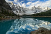 Moraine Lake (haas.evan) Tags: purple banffnationalpark morainelake reflection clouds canada