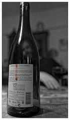 À la recherche du sang perdu de la vigne... (Jean-Marie Lison) Tags: eos80d sigmaart bouteille vin transparence noiretblanc nb monochrome
