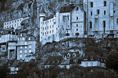 """""""Medieval castle in the pilgrimage town of Rocamadour"""" © 6. September 2017 by Silva Wischeropp aka Silva Capitana (SILVA CAPITANA) Tags: medievalcastleinthepilgrimagetownofrocamadour rocamadour france middleage darkage architecture castle medievalcastle pilgrimage city town wall stone rocks facade urbanfacade urbanlandscape oldfacade medieval houses windows doors stonehouses medievalwall sonewall blue duotone brown abstraction digitalart fineart nature trees earlymiddleage unesco urban abstract ngc fantasy darkfeeling medievalfacade"""