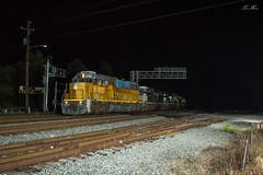 NS 322 at CP Bridge with UP 2166 (travisnewman100) Tags: norfolk southern train railroad manifest freight cp bridge ns union pacific sd60 sd60m emd atlanta terminal district georgia division inman yard 322 2166