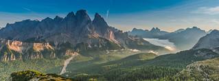 Crisp September morning in the Dolomites