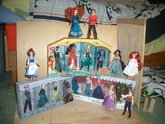 An army of mini dolls (Meritre) Tags: disney minidoll ariel belle beast gaston jasmine rapunzel merida anna elsa hans kristoff elenaofavalor naomi mateo gabe