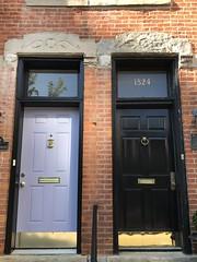 Colorful doors like Dublin IRE (Kellsboro) Tags: oldtown chicago architecture door nationalregisterofhistoricplaces