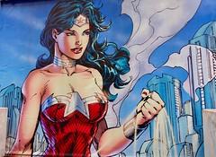 Wonder Woman (Terterian - A million+ views, thanks.) Tags: london waterloo south bank england gb uk artofbrick lego superhero villain comic book marvel portrait wonder woman wonderwomantiara heroine diana prince