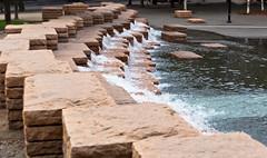 Jamison Square Stone Step Falls 3 of 3 (Orbmiser) Tags: nikkor28105mmf3545afd d90 nikon oregon portland summer jamisonsquare park fountain steps stone sculpture