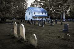 Three Gravestones (Joyce and Steve) Tags: grave graveyard gravestones dutchesscounty moody sunrise newyork upstatenewyork rural cemetery crumelbow