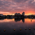Sunset on Grand Canal Dock - Dublin, Ireland - Cityscape photography thumbnail
