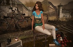 When you miss someone (kare Karas) Tags: woman lady femme girl girly cute beauty sadness pretty alone outdoors city urban sensual virtual secondlife avatar colors autumn tshirt art sneakers event ghee 68mainevent yinyangevent
