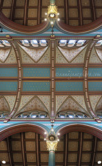 Princes Road Synagogue Ceiling (.annajane) Tags: liverpool merseyside synagogue ceiling princesroadsynagogue princesroad toxteth uk england liverpoololdhebrewcongregation architecture arch panorama composite