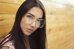 Isa (hugo_gomez87) Tags: ifttt 500px yellow girl beauty eyes wood glasses long hair perspective punto de fuga vanishing point perspectiva