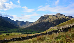 Langdale Stickles (Joan's Pics 2012) Tags: langdalestickles lakedistrict mountains stonewalls oldplaces moorland blueskies dramatic