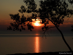 Elevated Sunset (JamesEyeViewPhotography) Tags: waves water lake michigan greatlakes autumn sky landscape lakemichigan beach sand dunes trees sleepingbeardunes nationallakeshore northernmichigan sunset clouds jameseyeviewphotography
