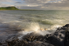 Front Bay - Monreith (TrotterFechan) Tags: bay wave sun
