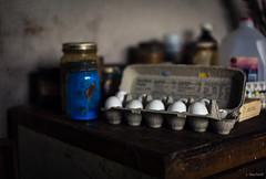 Andrew Wyeth Studio (Jen MacNeill) Tags: brandywine rivermuseum museum andrew wyeth studio artist pa pennsylvania chestercounty egg eggs tempera paint blue pigment media art palette brushes