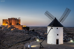 Consuegra (Toledo-Spain) (-COULD 2.0) Tags: mancha spain españa toledo castilla sony alpha7 molinos castillos castle fe2870mm noche blue azul night ngc nocturna