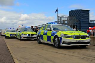 BMW and Audi Police Demonstrators