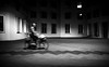 blury biker in the night (ThorstenKoch) Tags: blury unscharf biker radfahrer street streetphotography strasse stadt schatten shadow silhouette night nacht light lines thorstenkoch fuji fujifilm xt10 duesseldorf hafen gery blackwhite bnw outdoor draussen cold kalt schwarzweiss pattern