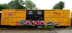 panda UH (timetomakethepasta) Tags: panda uh freight train graffiti art tbox ttx boxcar benching selkirk new york photography