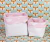 Cestinho em corino branco com nuvens em fundo rosa (vojacy) Tags: cestinho decoração quartodobebê quartoinfantil organização quartodecriança feitoàmão decoraçãoinfantil nuvens quartodesonhos