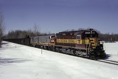 ACLD from off the Snowbank (ac1756) Tags: wc wcl wisconsincentral emd sd45 6604 acld dick michigan
