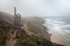 Poldark Country (MarkWaidson) Tags: whealcoates cornwall nationaltrust mine relic mist fog morning early heather path waidson towanroath engine