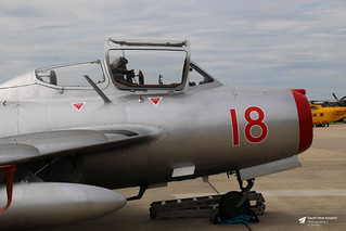 18 Red / N104CJ, WSK-PZL Mielec MiG-15UTI SBLim-2, Warbird Airshow Flying Services Inc, RNAS Yeovilton, Ilchester, Somerset